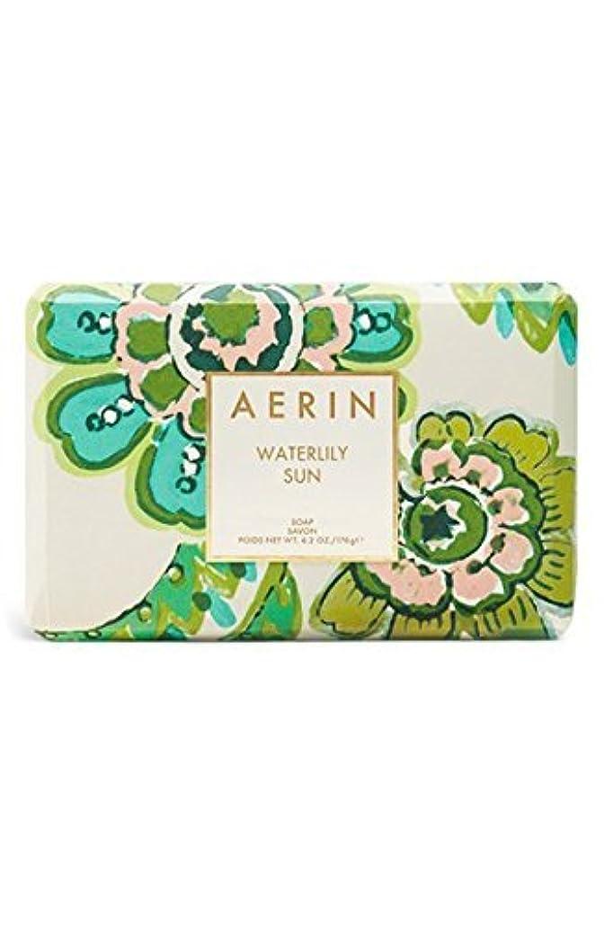 悲しい奪うナチュラAERIN 'Waterlily Sun' (アエリン ウオーターリリー サン) 6.2 oz (50ml) Body Soap 固形石鹸 by Estee Lauder for Women