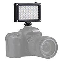 Hadari 撮影ライト LED定常光ライト 96球LEDビデオライト 調光可能 無段階調整 電池式Nikon Canon デジタル一眼レフ ビデオカメラ対応