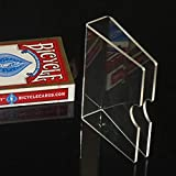 【手品 マジック】クリスタルカードクリップ カードガード トランプマジックアクセサリー 保護用 デックケース 手品道具 (厚み2mm)