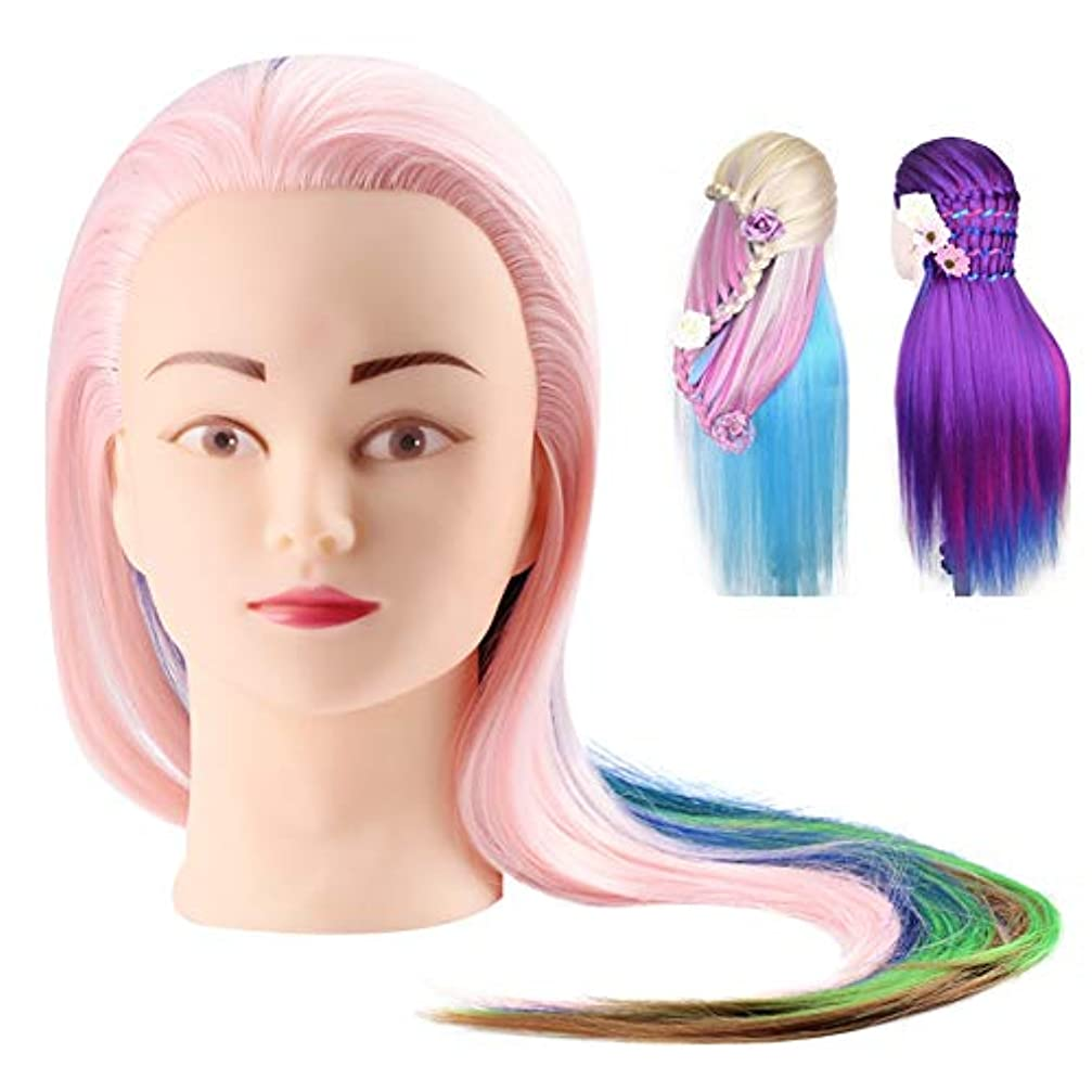 ポゴスティックジャンプ角度調和プロの理髪ヘッド、化粧品実用的なマネキン人形人工毛、人工毛理髪トレーニングヘッドエクササイズマネキン