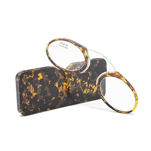 カードタイプ老眼鏡 レディース メンズ シニアグラス おしゃれ 携帯式マイクロ老眼鏡 専用ケース付属 度数「+1.0~+3.5」3色選択可能 +2.5, ヒョウ