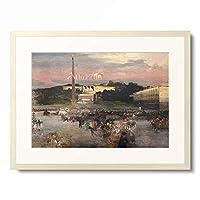 オスヴァルト・アッヒェンバッハ Oswald Achenbach 「Piazza del Popolo. 1895」 額装アート作品