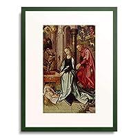 ハンス・ホルバイン Hans Holbein(父) 「Kaisheimer Altar, re.Flugel re.oben: Geburt Christi」 額装アート作品