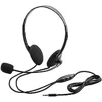 日用品 周辺機器 関連商品 4極ヘッドセットマイクロフォン/両耳オーバーヘッド/1.8m/ブラック HS-HP22TBK