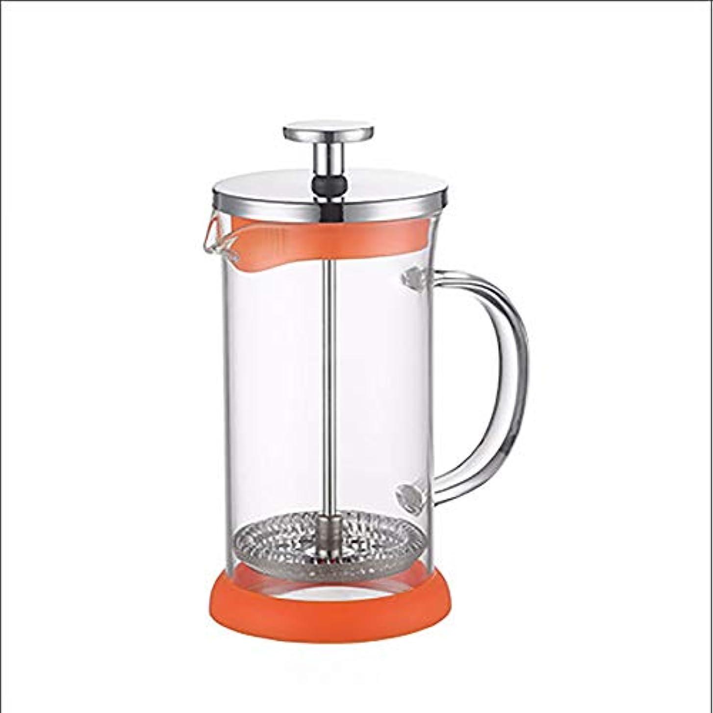 目を覚ます異邦人ジャニスフレンチプレスコーヒーメーカーティーポット、二重壁ホウケイ酸ガラス、304高密度ステンレススチール、2杯付き