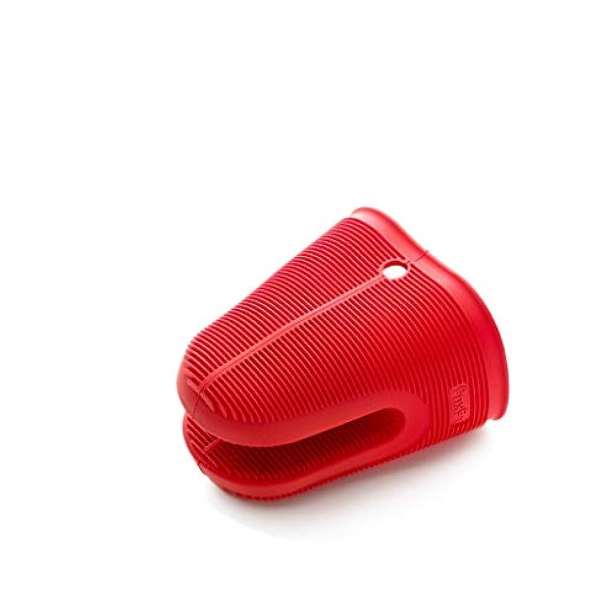 厚い酔う受動的QCRLB 滑り止めの絶縁クリップシリコンの焦げ付き防止クリップ高温耐性手袋家庭用の焦げ付き防止手袋11.8 * 9.5 * 13.5センチ赤 ゴム手袋