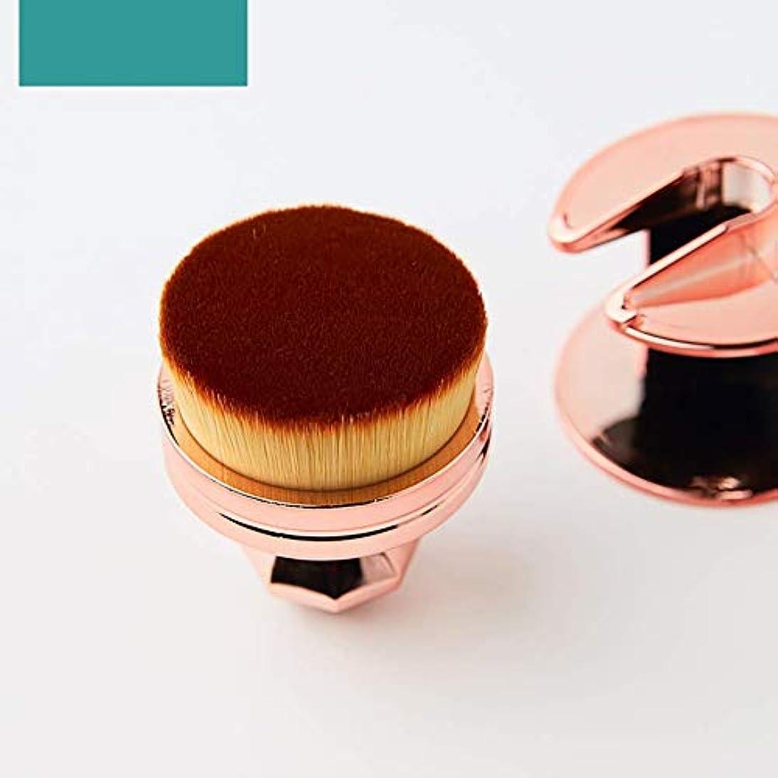 赤面用、ブロンザー用、または蛍光ペン用のミニトラベルサイズマルチタスクメイクアップブラシ(包装色と取り扱い色が異なる場合があります)