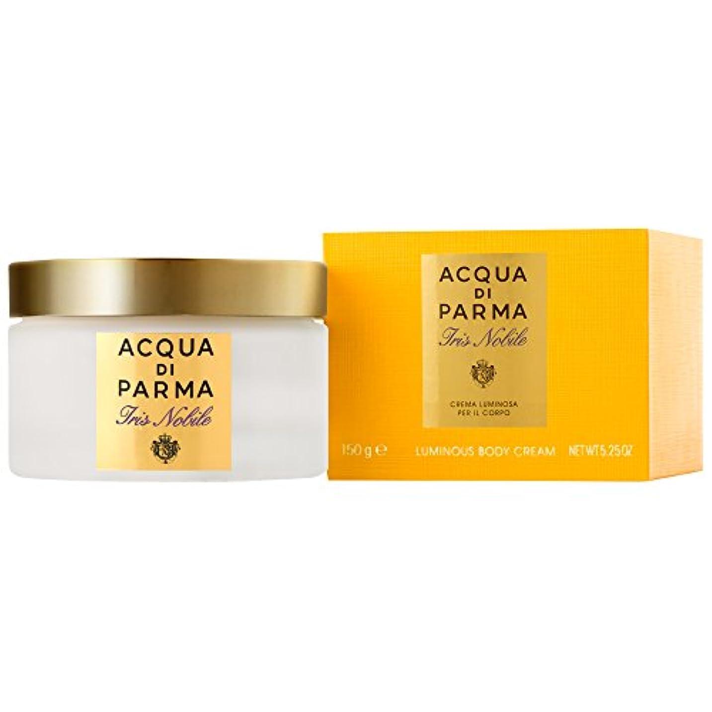 を通して粘土高度アクア?ディ?パルマアイリスノビレボディクリーム150ミリリットル (Acqua di Parma) (x6) - Acqua di Parma Iris Nobile Body Cream 150ml (Pack of...