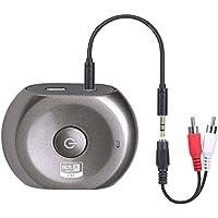 Bluetooth 低遅延32ms対応 トランスミッター&レシーバー BTTC200-L Low Latency 32ms対応 送信・受信両用 オーディオステレオコンポ外部接続 並行輸入品 (メタルグレー)