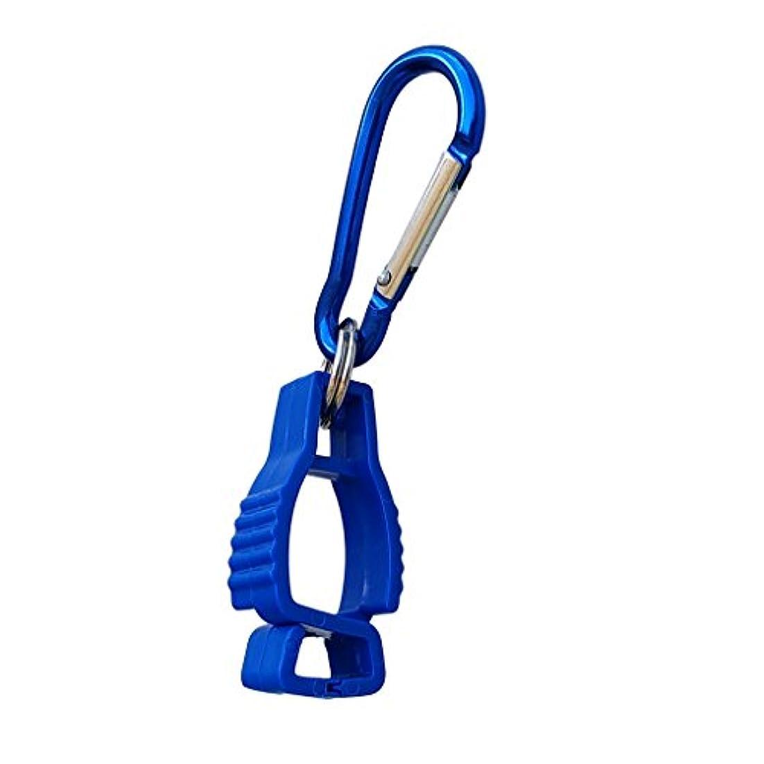 気づくなるモーテル複製するアンチロストプラスチック小型労働手袋クリップホルダーハンガーガードグラバーアクセサリー強く&軽い色オレンジ/グリーン/イエロー/レッド/ブルー/ブラック