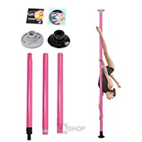 ShopOCピンク簡単ポータブルセットアップピンクAgility Dancing Stripper Pole Kit
