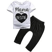 YUSMWISH ベビー幼児用 パンツとTシャツのセット