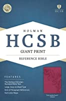 The Holy Bible: Holman Christian Standard Bible, Pink, LeatherTouch, Giant Print Reference