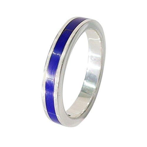 シンプルリング(10)ラピスラズリ23号/【メイン】シルバー925銀天然石指輪シンプルブルー