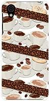 AQUOS sense plus アクオス センス プラス イオンモバイル 楽天モバイル OCN モバイル TPU ソフトケース コーヒーとコーヒー豆 スマホケース スマホカバー デザインケース