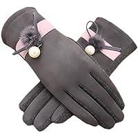 厚みサイクリング運転アウトドアIphone手袋暖かいベルベットファッションタッチスクリーン用手袋women-gray01