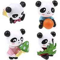 jiaufmi 4 pcs Mini Cute Panda Bear図おもちゃ、樹脂工芸品マイクロ風景Miniature Fairy Figurines
