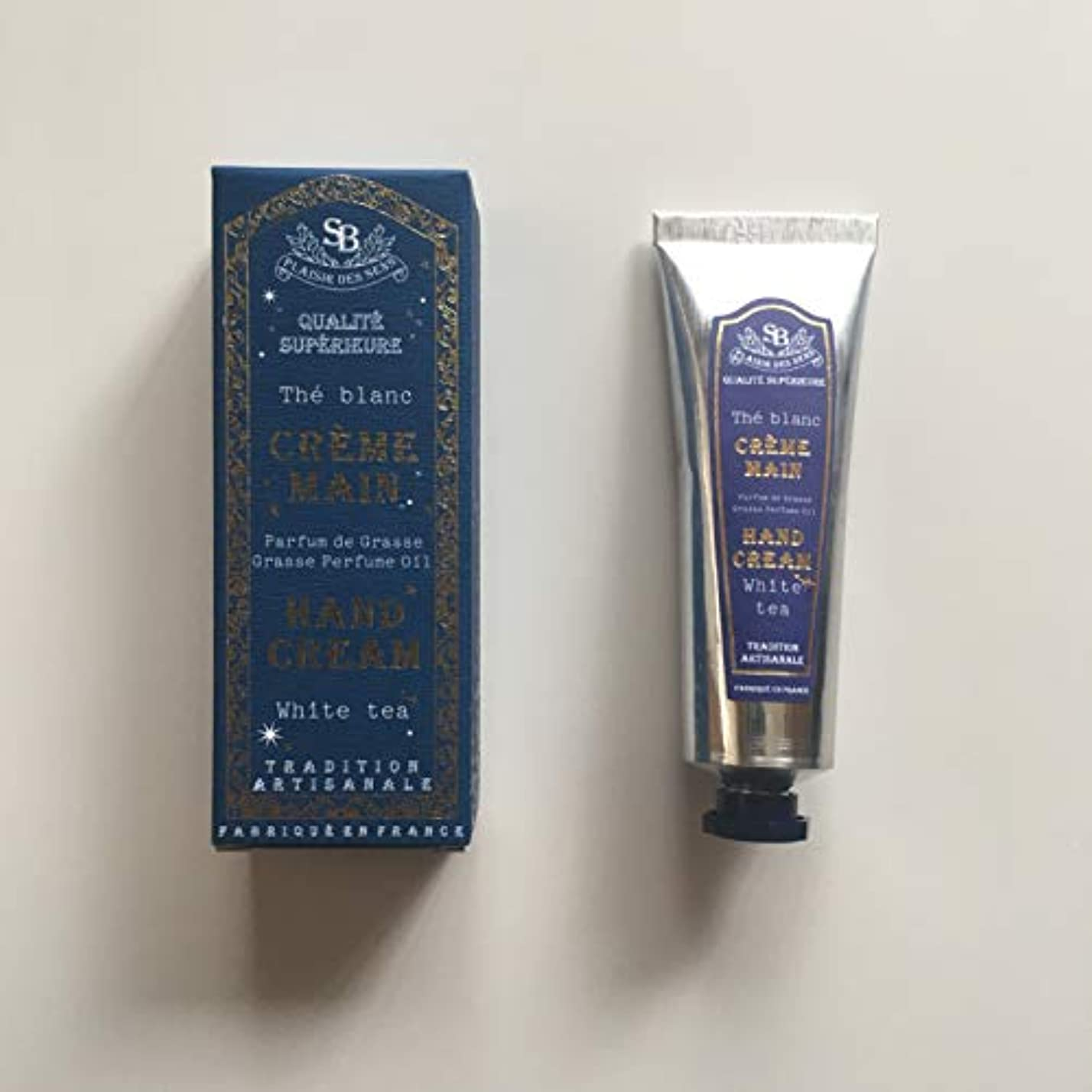 パイプ喉が渇いた解き明かすSenteur et Beaute(サンタールエボーテ) フレンチクラシック ハンドクリーム 冬期限定BOX (ホワイトティー)