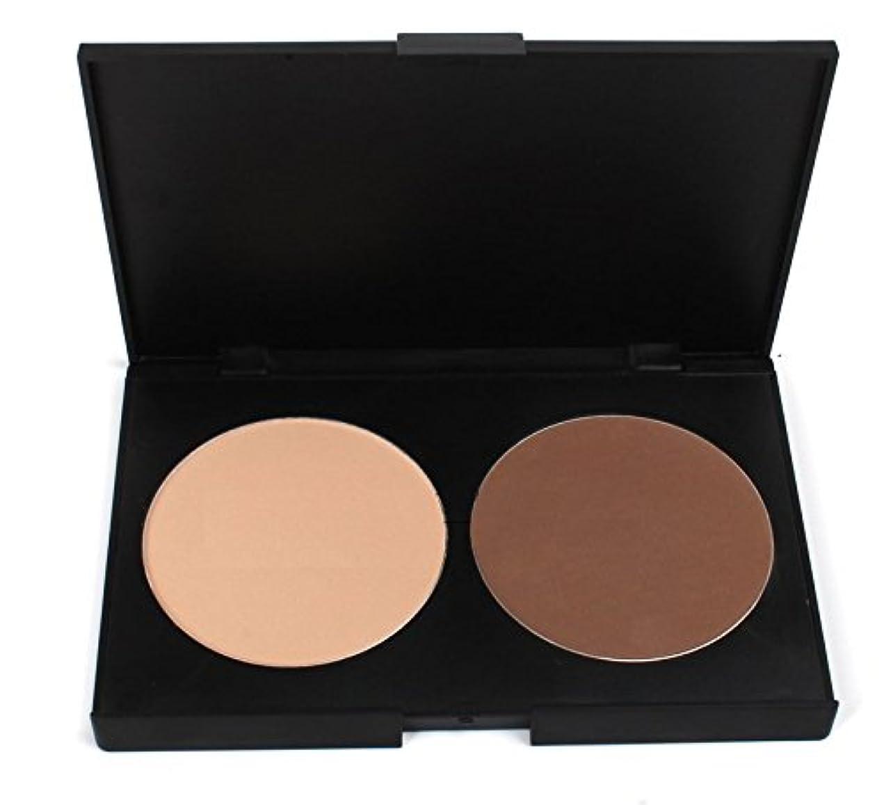 浸透する乳白たまに(メイクアップエーシーシー) MakeupAcc プロ仕様2色コンシーラーパレット パウダーファンデーション ステレオの化粧 ヌードメイク必要 チークメイク (肌色) [並行輸入品]