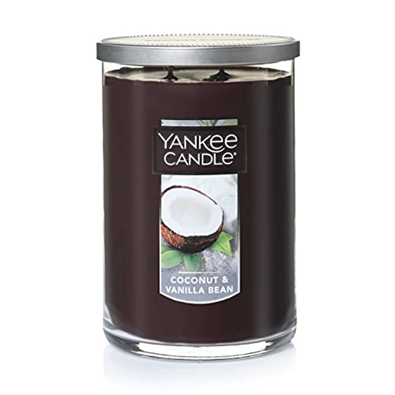 靄読む滴下Yankee Candle Coconut & Vanilla Bean , Food & Spice香り Large 2-Wick Tumbler Candle ブラウン 1284535-YC