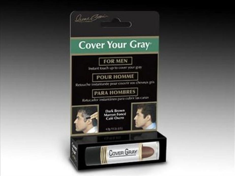 カバー?ユア?グレイ スティックタイプ メンズ用 ダークブラウン 4.2g 口紅タイプ 簡単白髪隠し CYG-Mens-Dark Brown 7165 New York