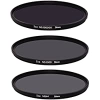 Ice Extreme NDフィルタセット58mm nd100000nd1000nd64ニュートラル密度5816.5,10、6Stop光学ガラス
