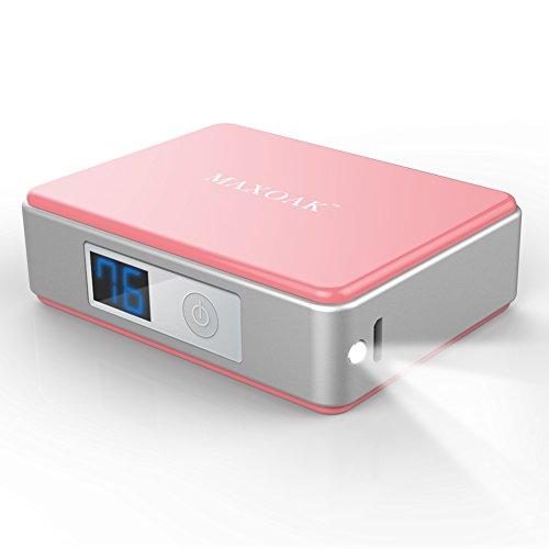 MAXOAK 5200mAh超小型モバイルバッテリー USBモバイル電源APPLE IPHONE 6,6 PLUS ,IPHONE 5 S 5 C 5 4S 4,SAMSUNG GALAXY S6 S5 S4 S3 NOTE 4 3 2 TAB PRO NEXUS他の携帯電話等に充電対応-ピンク