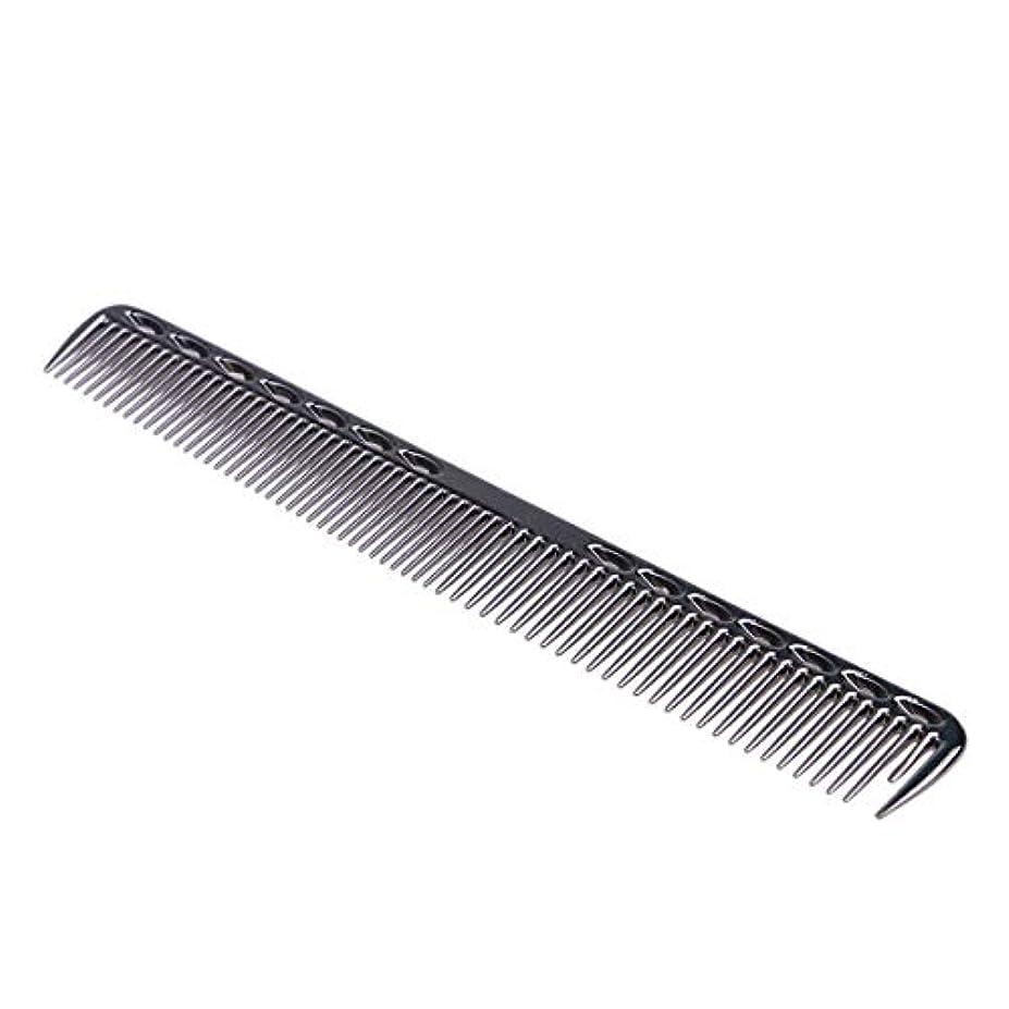 事務所見ましたヘルパーSUPVOX プロ用 髪切櫛 静電気防止 アルミ歯 美容師用 ヘアスタイリングツール