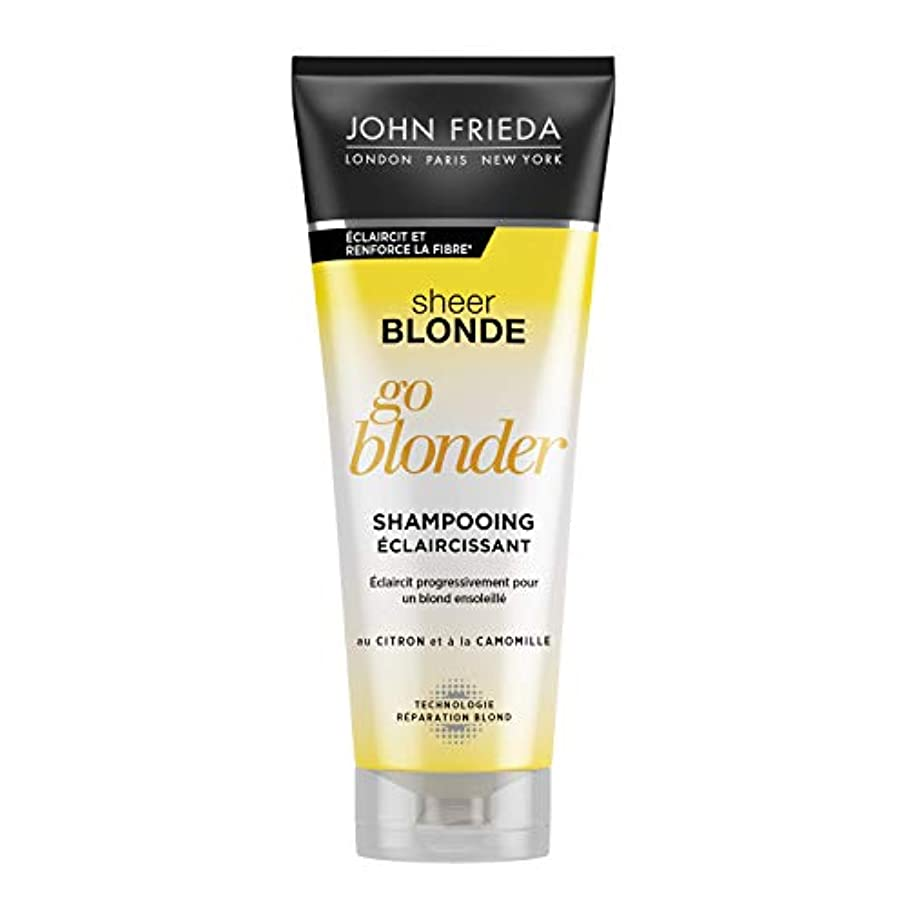 愛撫エラー十一John Frieda Sheer Blonde Go Blonder Lightening Shampoo 250ml