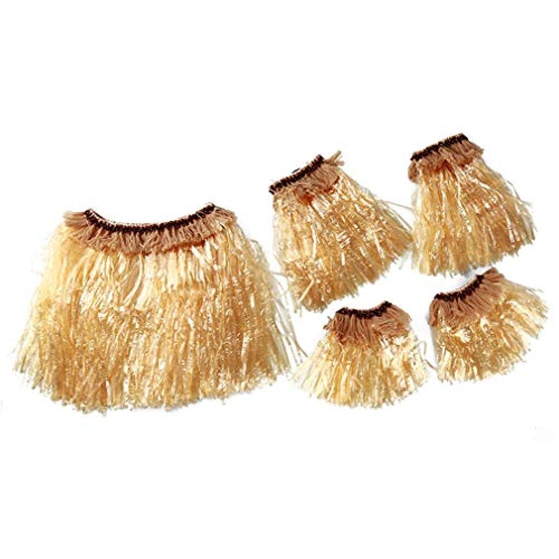 呪いビリーヤギミルNoonlity ハワイアン スカート ブレスレット サマー 純色 ハワイ風飾り デコレーション コスチューム 衣装 大人用 わら色