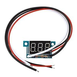 SODIAL(R)ミニデジタルアンペアメーター 電流計 パネルメータ 0-5A 赤色LED