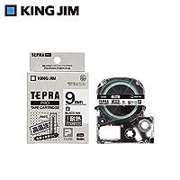キングジム 「テプラ」PROテープカートリッジ 耐熱ラベル 白/黒文字 9mm SN9K 【人気 おすすめ 通販パーク】