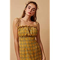Finders Keepers Women's Sorrento Mini Dress, Lemon Check