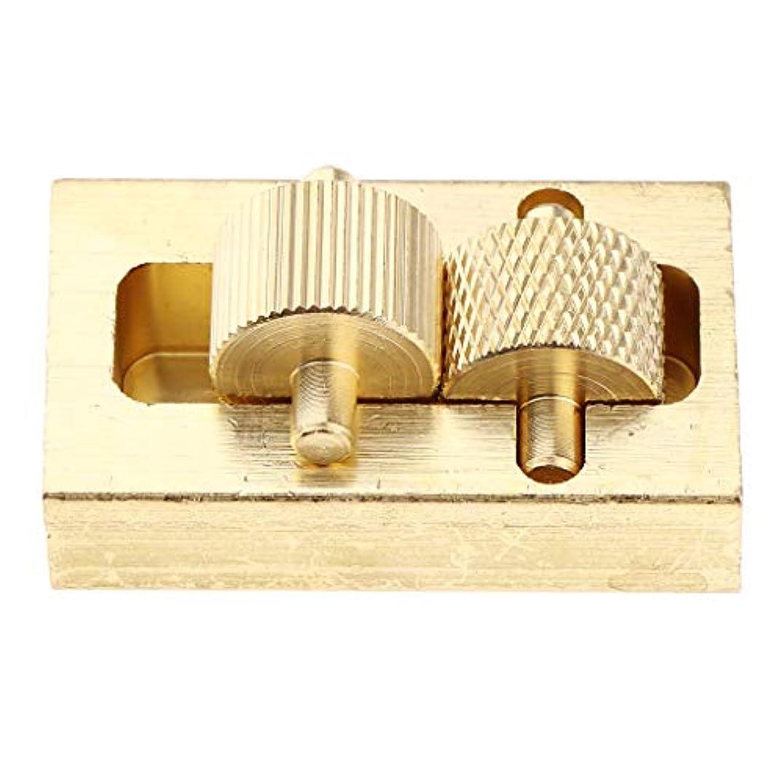 ブル継続中さまようレザークラフト ローラー付き 染料 オイルボックス 真鍮 革工芸 DIY工具 ハンドツール 3点入り