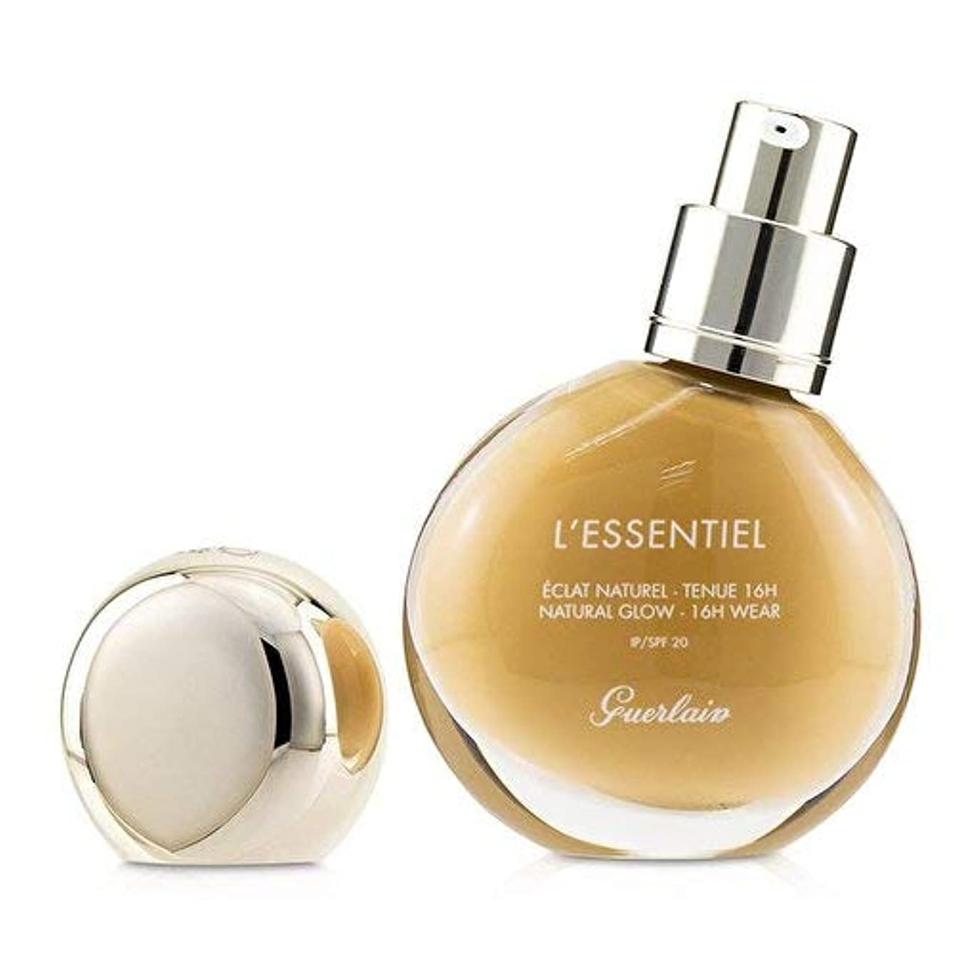 文字東麻痺させるゲラン L'Essentiel Natural Glow Foundation 16H Wear SPF 20 - # 045W Amber Warm 30ml/1oz並行輸入品