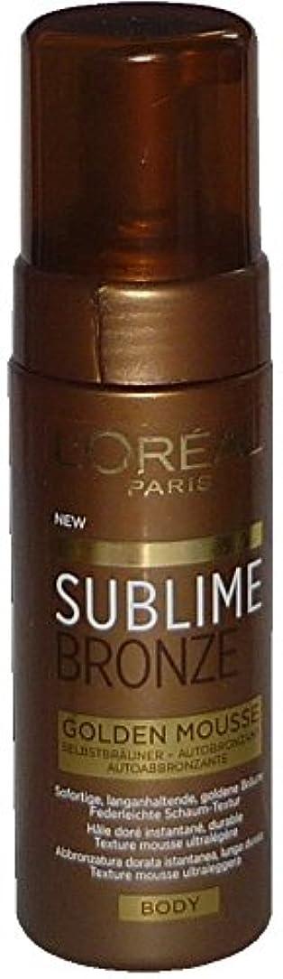気分が良い韻手当L'Oreal Sublime Bronze Golden Mousse Body 150 ml Selbstbräuner