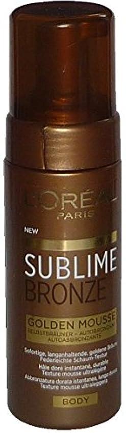 ポット引き算葉を拾うL'Oreal Sublime Bronze Golden Mousse Body 150 ml Selbstbräuner