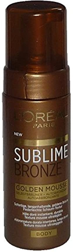 マルクス主義はがき不適当L'Oreal Sublime Bronze Golden Mousse Body 150 ml Selbstbräuner