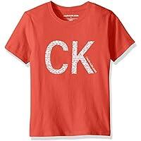 Calvin Klein Boys' Little Crew Neck Tee Shirt