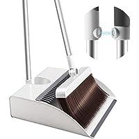 ほうき ちりとり SMD 立て式掃除セット 玄関掃除 掃除道具マグネット固定 180°角度調節可能 防風 収納便利 適用…