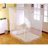 夏夜の安眠に アウトドアにも 虫除け蚊帳(四角タイプ) かや 蚊帳 DFS-CTCD