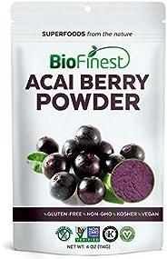 BioFinest Acai Berry Juice Powder - 100% Pure Freeze-Dried Antioxidant Superfood - Usda Certified Organic Kosh