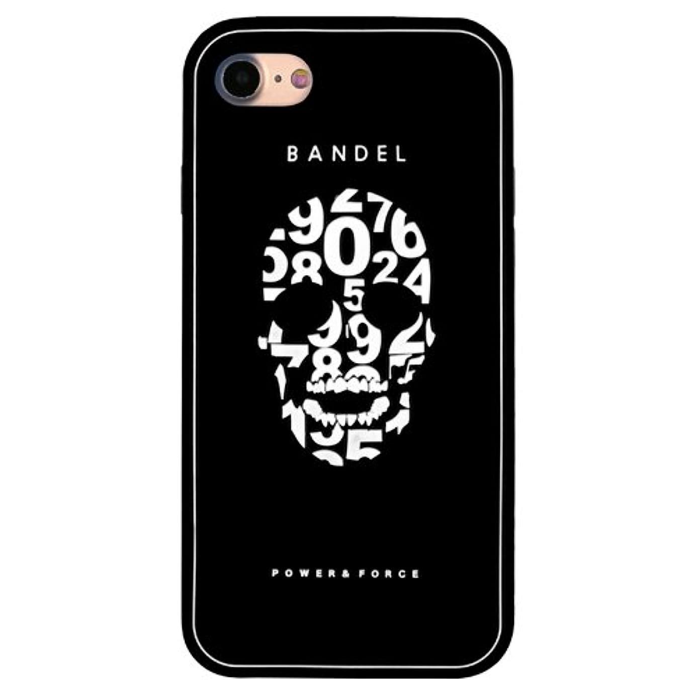 チーズコーチ騒々しいバンデル(BANDEL) スカル iPhone 8 Plus専用 シリコンケース [ブラック×ホワイト]