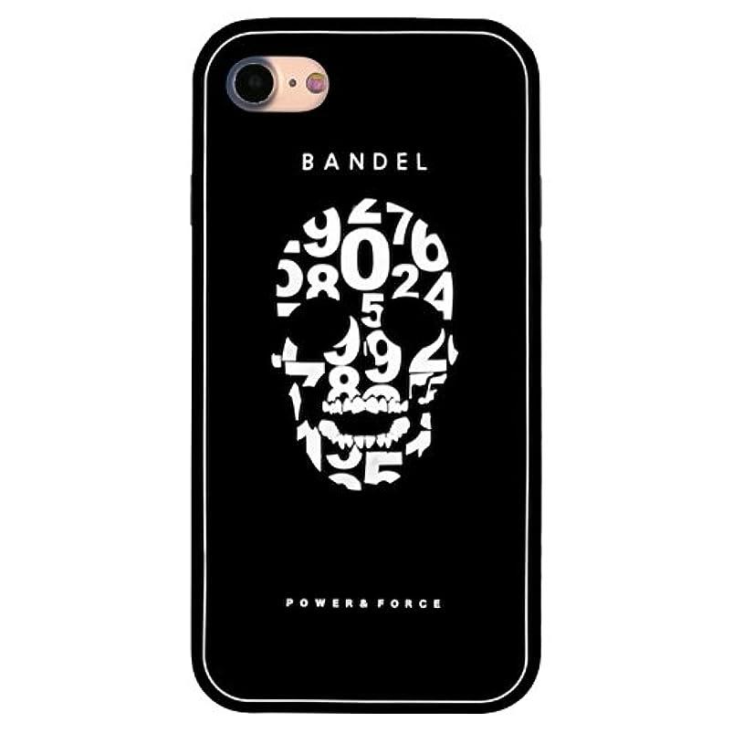 ルビー谷教会バンデル(BANDEL) スカル iPhone 8専用 シリコンケース [ブラック×ホワイト]