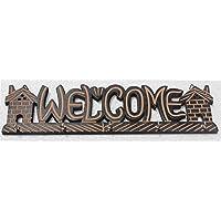 装飾木製 ハンドメイド ウェルカムキーホルダー 壁掛けキーホルダー キーハンガー フック5個付き キーハンギング キーオーガナイザー 15インチ
