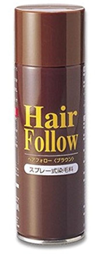 NEW ヘアフォロー スプレー ブラウン スプレー式染毛料 自然に薄毛をボリュームアップ!薄毛隠し かつら (1本)