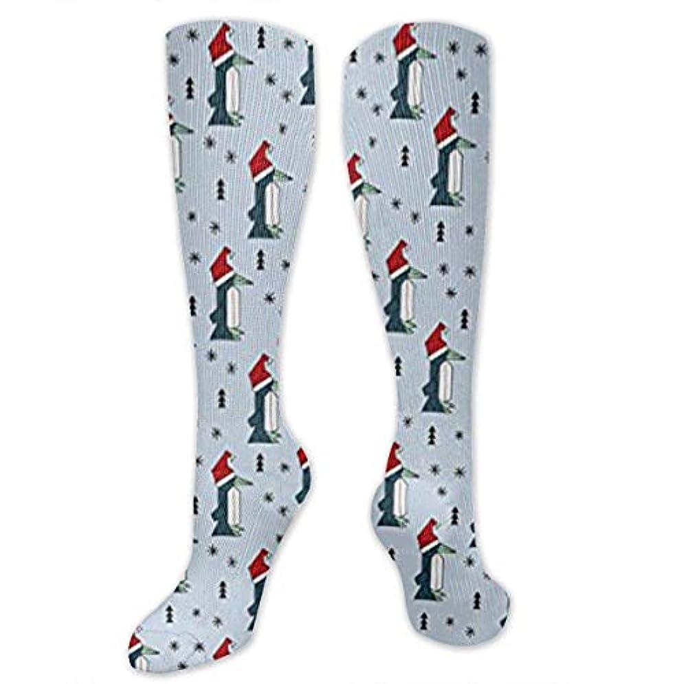 うなるレガシー払い戻し靴下,ストッキング,野生のジョーカー,実際,秋の本質,冬必須,サマーウェア&RBXAA Happy Christmas Penguins with A Santa Hat Socks Women's Winter Cotton...