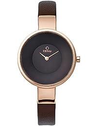 [オバック] OBAKU 腕時計 ウォッチ ブラウン×ローズゴールド シンプル レディース [並行輸入品]