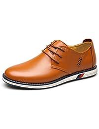 OvMax カジュアルシューズ メンズ ビジネスシューズ 本革 ローファー 紳士靴 革靴 レースアップ ウォーキング 通気性
