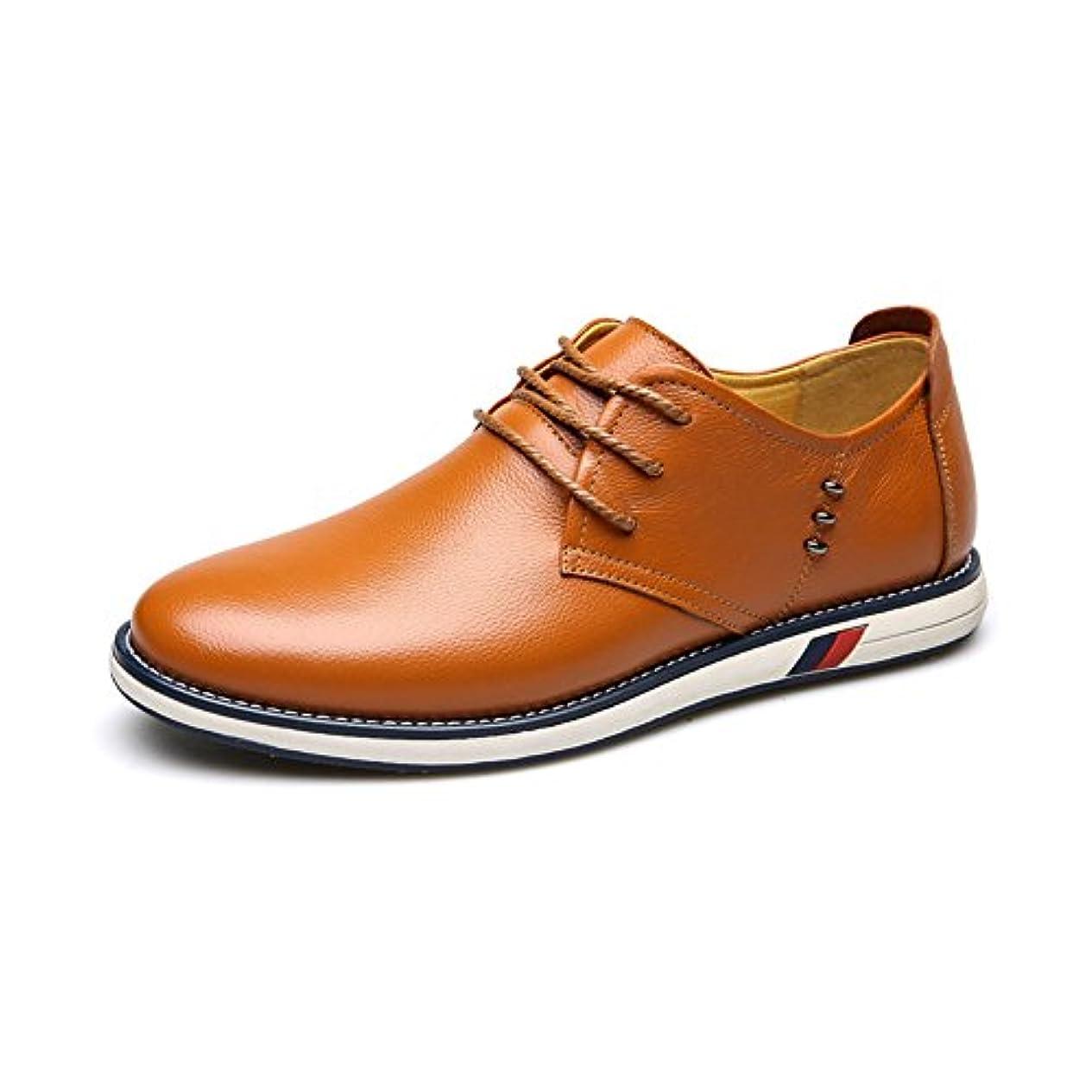 政治家のパフ独立してCHENGFA カジュアルシューズ メンズ ビジネスシューズ 本革 ローファー 紳士靴 革靴 レースアップ ウォーキング 通気性